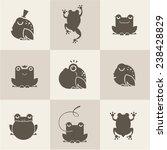 frog characters flat | Shutterstock .eps vector #238428829
