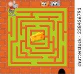 illustration of a maze game... | Shutterstock .eps vector #238436791