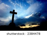 cross silhouette and the clouds ... | Shutterstock . vector #2384478