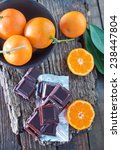 tangerines and chocolate   Shutterstock . vector #238447804