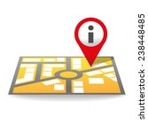 map icon with the pin | Shutterstock .eps vector #238448485