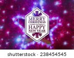 merry christmas and new year... | Shutterstock . vector #238454545