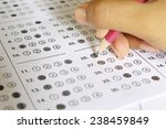 standardized test form with... | Shutterstock . vector #238459849