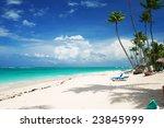 beautiful caribbean beach in... | Shutterstock . vector #23845999