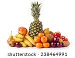 fresh fruits isolated on a... | Shutterstock . vector #238464991