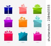 set of nine color icons of gift ... | Shutterstock .eps vector #238465555