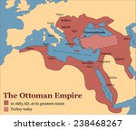 the ottoman empire at its... | Shutterstock .eps vector #238468267