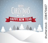 merry christmas and happy new... | Shutterstock . vector #238470607