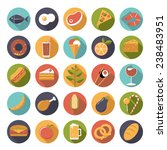 food and drink flat design long ... | Shutterstock .eps vector #238483951