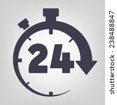 timer icon black vector time... | Shutterstock .eps vector #238488847