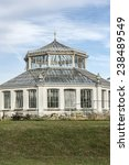 Small photo of Temperate House (1859, designed by architect Decimus Burton) in the grounds of Kew Gardens. Richmond, London, England.