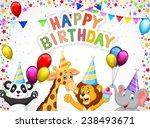 Birthday Background With Happy...