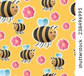 seamless vector pattern with... | Shutterstock .eps vector #238496995