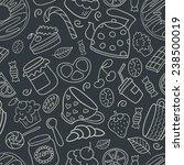 hand drawn dessert seamless... | Shutterstock .eps vector #238500019
