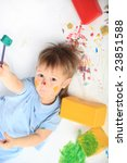 beautiful child enjoying his...   Shutterstock . vector #23851588