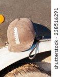Equestrian Helmet Forgotten On...