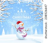 christmas background with... | Shutterstock .eps vector #238526647