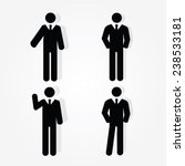 set of business man icon ... | Shutterstock .eps vector #238533181