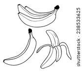 banana fruit outline vector | Shutterstock .eps vector #238533625
