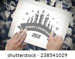 merry christmas message against ... | Shutterstock . vector #238541029