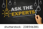 ask the experts on blackboard... | Shutterstock . vector #238546381