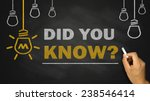 did you know on blackboard... | Shutterstock . vector #238546414