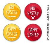 easter flat design stickers... | Shutterstock .eps vector #238547611