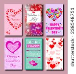 bright colored cards for... | Shutterstock . vector #238548751