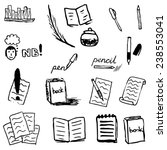 set of hand drawn icons | Shutterstock .eps vector #238553041