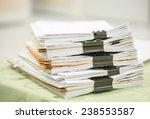 stack of business report paper... | Shutterstock . vector #238553587