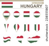 hungary flag collection  12... | Shutterstock .eps vector #238555807