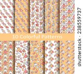 set of ten colorful patterns | Shutterstock .eps vector #238559737