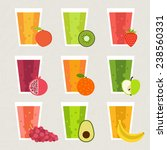 fruit smoothie collection. menu ... | Shutterstock .eps vector #238560331