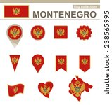 montenegro flag collection  12... | Shutterstock .eps vector #238565995