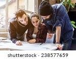 teamwork. three young... | Shutterstock . vector #238577659