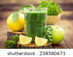 fresh green smoothie  | Shutterstock . vector #238580671
