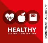 healthy lifestyle | Shutterstock .eps vector #238581979