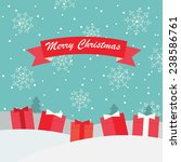 merry christmas greeting and... | Shutterstock .eps vector #238586761