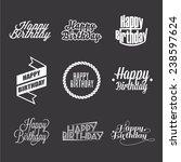 set of happy birthday's... | Shutterstock .eps vector #238597624