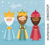 the three kings of orient on a... | Shutterstock .eps vector #238603429
