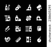 set icons of hygiene isolated... | Shutterstock .eps vector #238605295