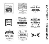 set of wedding invitations ... | Shutterstock .eps vector #238606645
