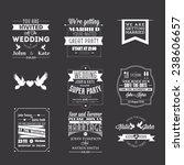 set of wedding invitations ... | Shutterstock .eps vector #238606657