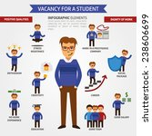 vacancy for a student... | Shutterstock .eps vector #238606699