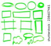 highlighter elements   hand... | Shutterstock . vector #238607461