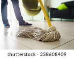 woman at home  doing chores and ... | Shutterstock . vector #238608409