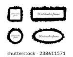 watercolor frames   black... | Shutterstock .eps vector #238611571
