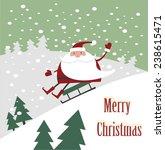 santa claus rides a mountain on ...   Shutterstock .eps vector #238615471