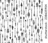 hand drawn arrows seamless... | Shutterstock .eps vector #238635904
