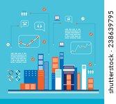 modern city infographics flat... | Shutterstock .eps vector #238639795